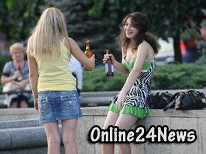 девушки и алкоголь