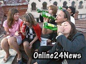 алкоголь и молодые девушки