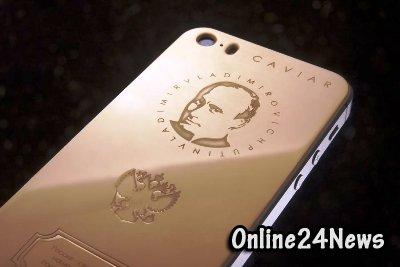 Итальянские ювелиры выпустили вторую партию позолоченных iPhone с портретом президента РФ