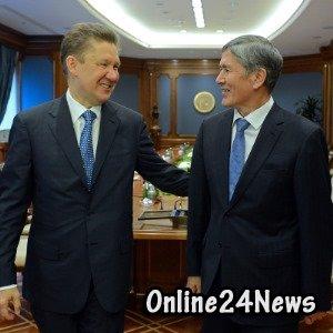 Алексей Миллер и Алмазбек Атамбаев