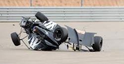 Перед заключительной гонкой американской серии IndyCar российский пилот Михаил Алёшин попал в аварию