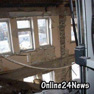 Разрушенная больница Луганска