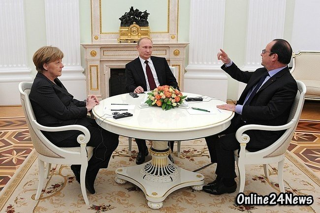Олланд, Путин и Меркель