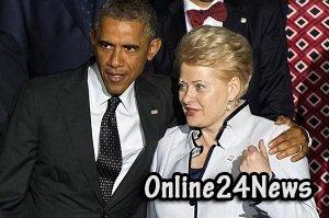 презаденты США и Литвы