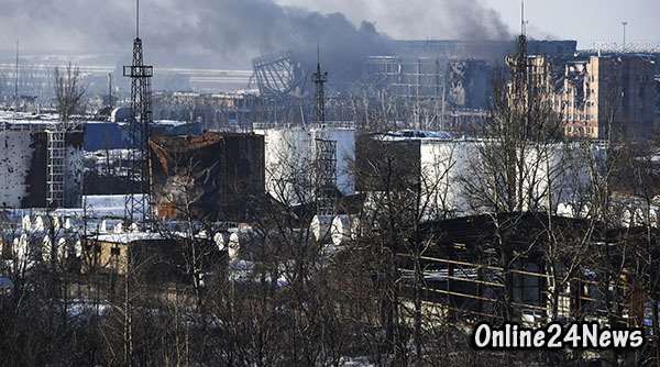 разрушенный Донецк