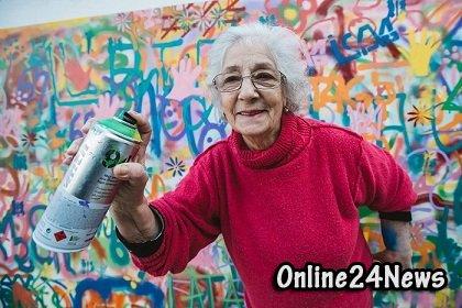 лиссабонские пенсионеры вышли на улицу рисовать граффити